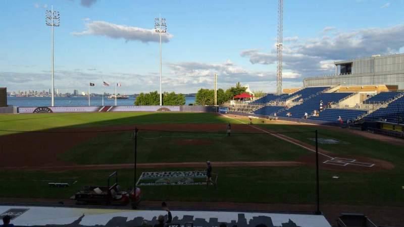 Vista sentada para Richmond County Bank Ballpark Secção 7 Fila R Lugar 19