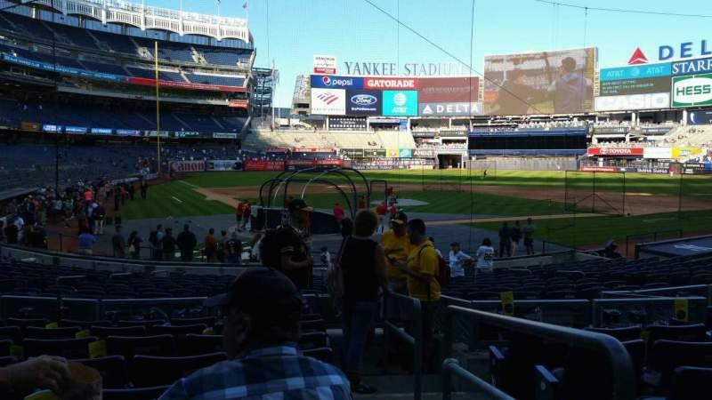 Vista sentada para Yankee Stadium Secção 119 Fila 8 Lugar 1