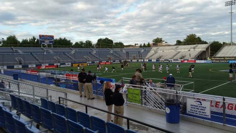 Vista sentada para James M. Shuart Stadium Secção 3 Fila 8 Lugar 27