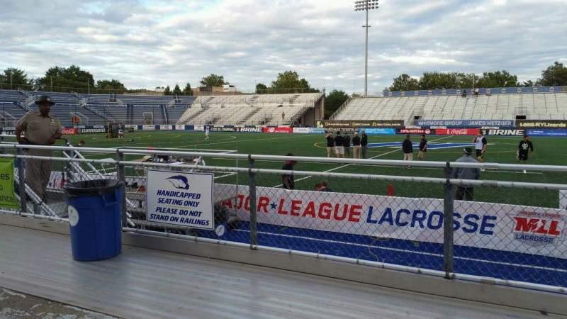 Vista sentada para James M. Shuart Stadium Secção 3 Fila 3 Lugar 27