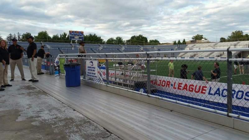 Vista sentada para James M. Shuart Stadium Secção 3 Fila 1 Lugar 21