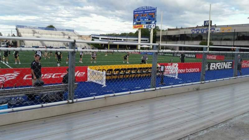 Vista sentada para James M. Shuart Stadium Secção 3 Fila 1 Lugar 13