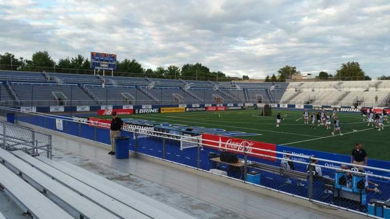 Vista sentada para James M. Shuart Stadium Secção 4 Fila G Lugar 25
