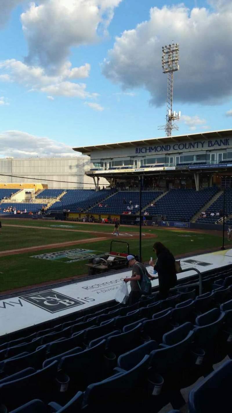 Vista sentada para Richmond County Bank Ballpark Secção 5 Fila K Lugar 11