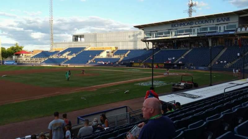 Vista sentada para Richmond County Bank Ballpark Secção 5 Fila K Lugar 22