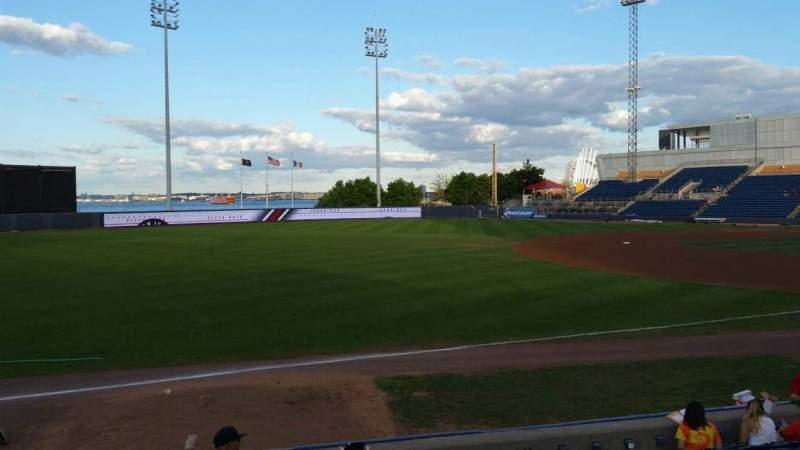 Vista sentada para Richmond County Bank Ballpark Secção 3 Fila K Lugar 22