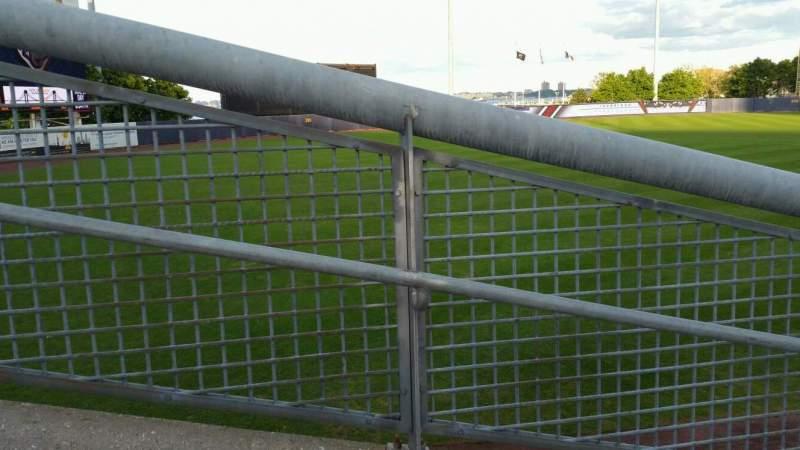 Vista sentada para Richmond County Bank Ballpark Secção 1 Fila J Lugar 24