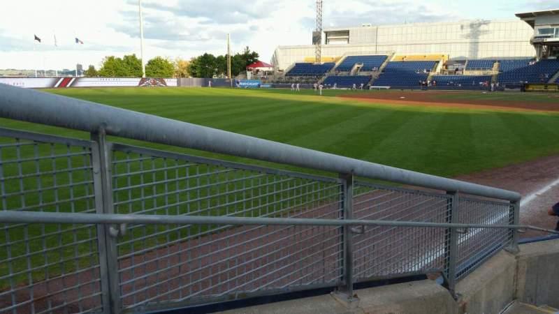 Vista sentada para Richmond County Bank Ballpark Secção 1 Fila F Lugar 19