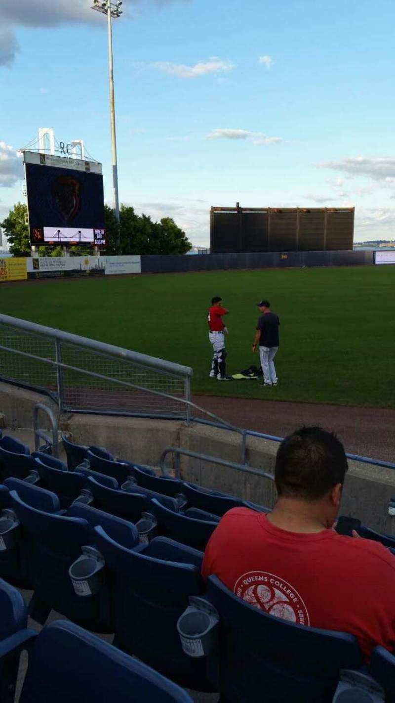 Vista sentada para Richmond County Bank Ballpark Secção 1 Fila F Lugar 1