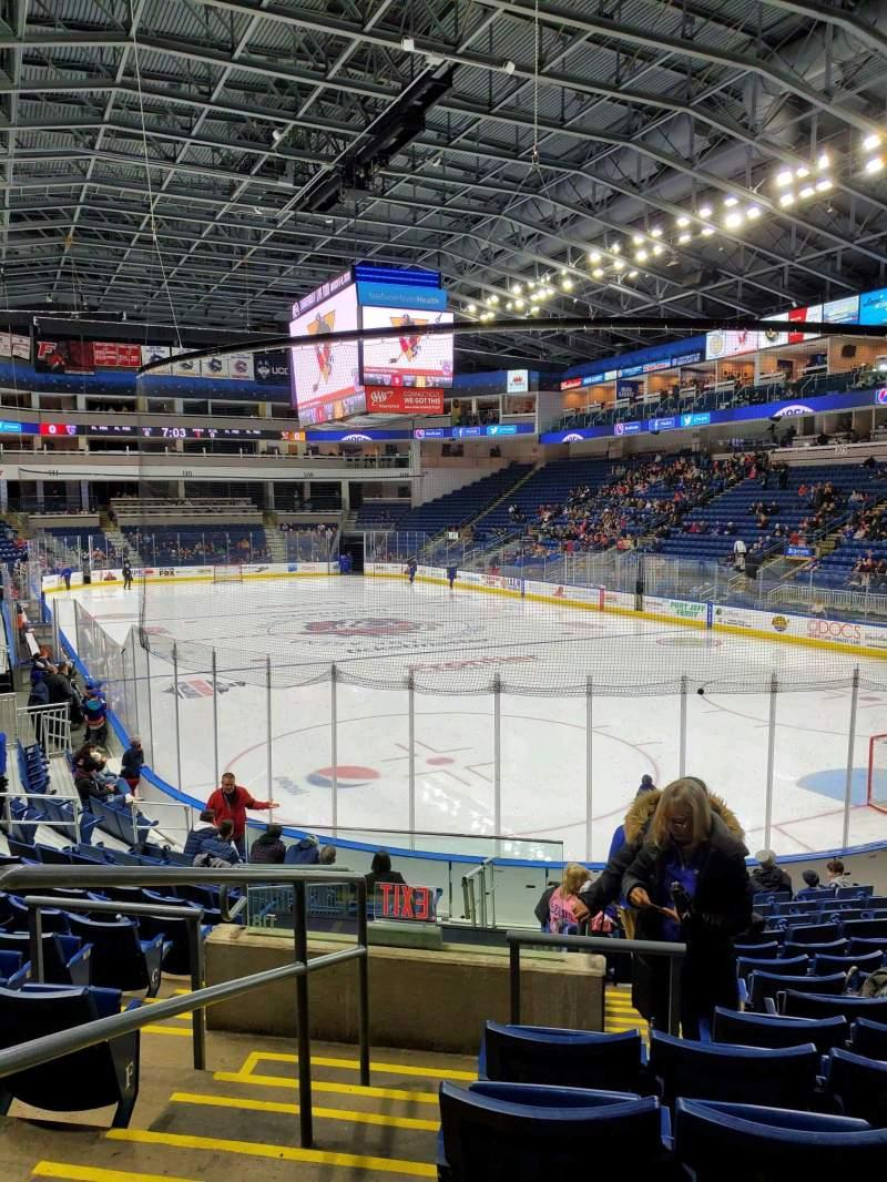 Vista sentada para Webster Bank Arena Secção 119 Fila K Lugar 19