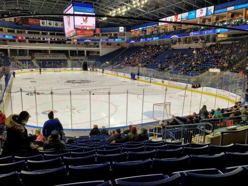 Vista sentada para Webster Bank Arena Secção 119 Fila K Lugar 10
