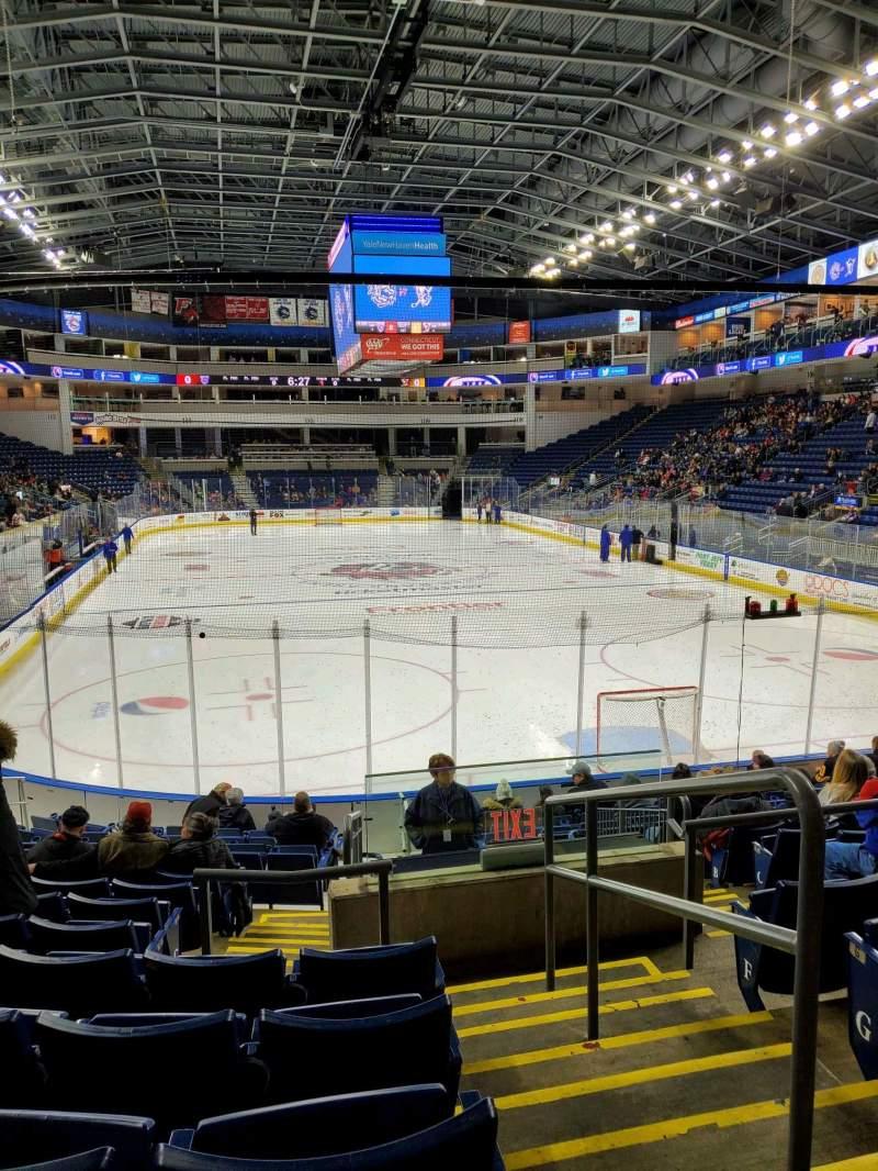 Vista sentada para Webster Bank Arena Secção 119 Fila K Lugar 1