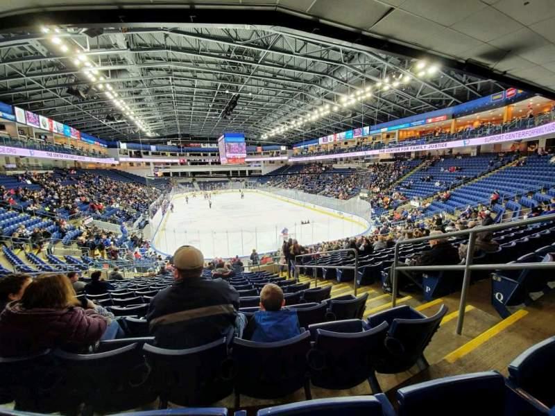 Vista sentada para Webster Bank Arena Secção 119 Fila S Lugar 4
