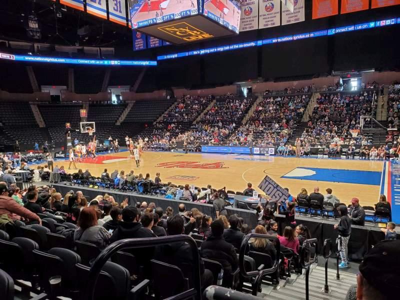 Vista sentada para Nassau Veterans Memorial Coliseum Secção 101 Fila 1 Lugar 14