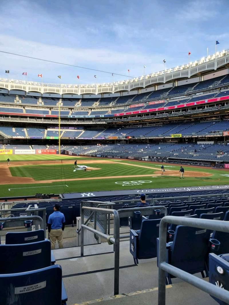 Vista sentada para Yankee Stadium Secção 125 Fila 9 Lugar 1