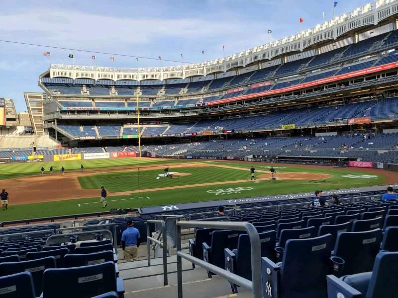 Vista sentada para Yankee Stadium Secção 125 Fila 11 Lugar 1