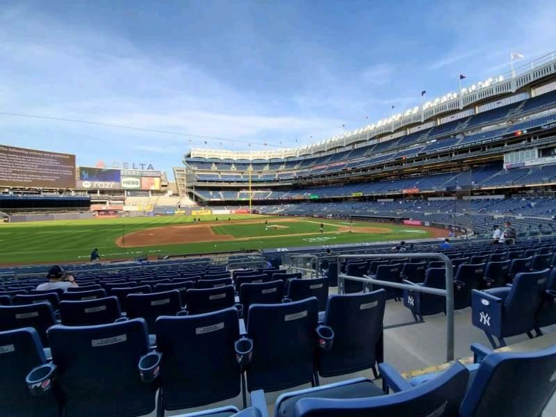 Vista sentada para Yankee Stadium Secção 125 Fila 11 Lugar 2