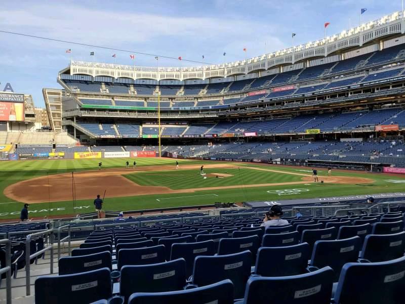 Vista sentada para Yankee Stadium Secção 125 Fila 12 Lugar 8