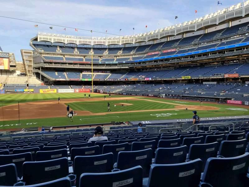 Vista sentada para Yankee Stadium Secção 125 Fila 12 Lugar 6