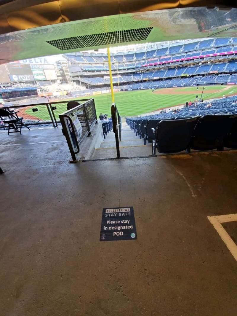 Vista sentada para Yankee Stadium
