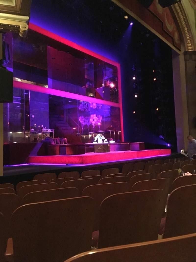 Vista sentada para Booth Theatre Secção Orchestra L Fila E Lugar 15