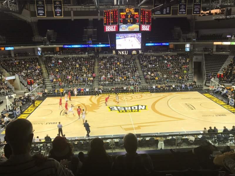 Vista sentada para BB&T Arena Secção 202