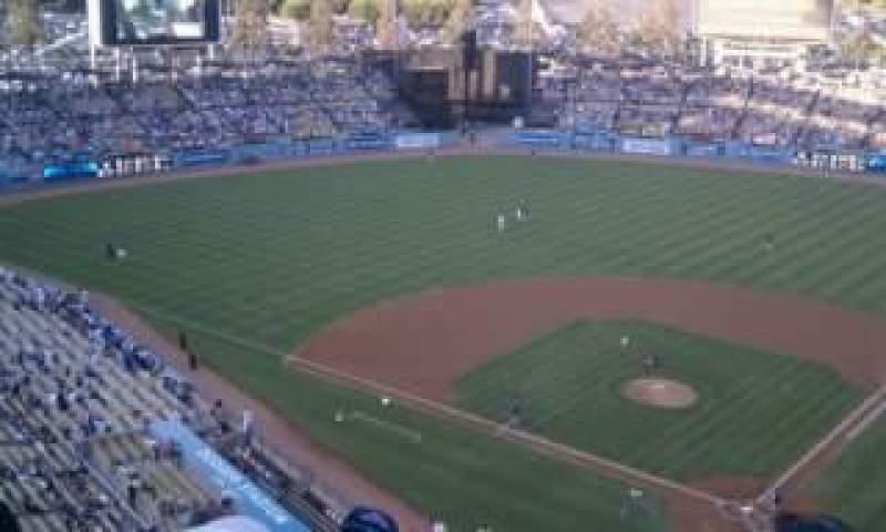Vista sentada para Dodger Stadium Secção 7TD Fila D Lugar 1