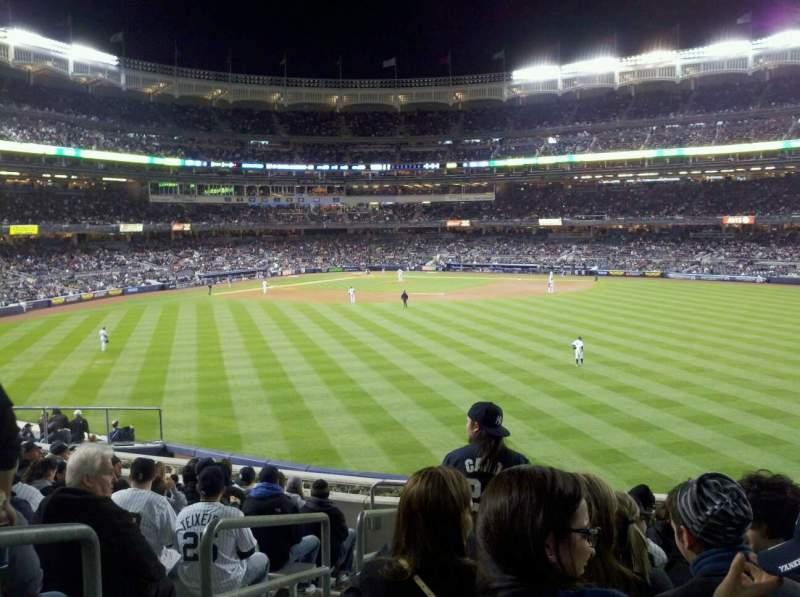 Vista sentada para Yankee Stadium Secção 201 Fila 12 Lugar 28
