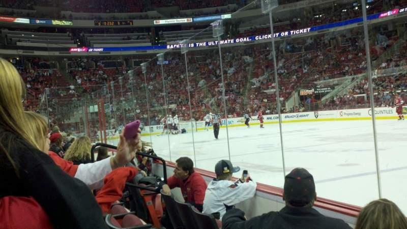 Vista sentada para PNC Arena Secção 117 Fila C Lugar 5