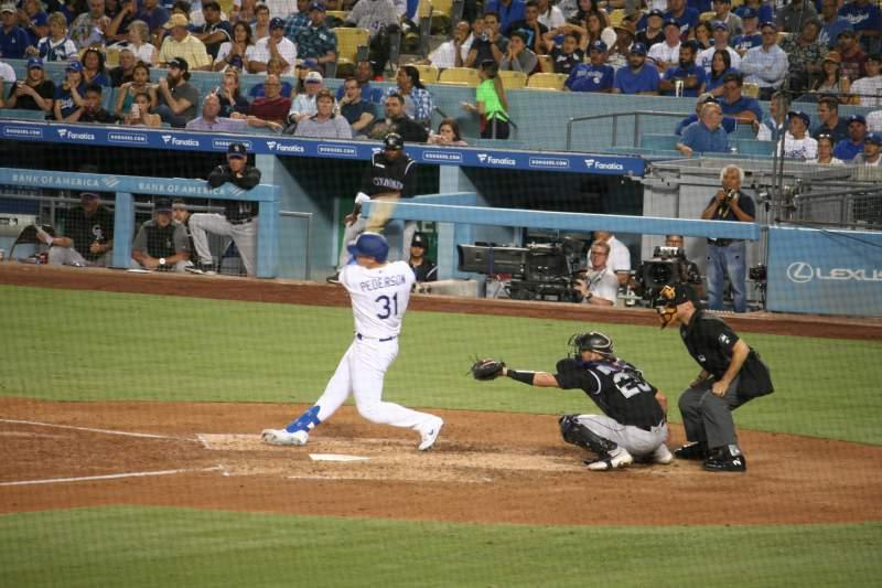 Vista sentada para Dodger Stadium Secção 25FD Fila W Lugar 6