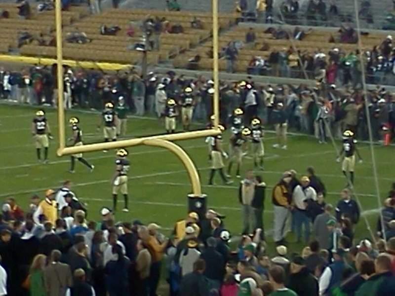 Vista sentada para Notre Dame Stadium Secção 3 Fila 31 Lugar 1 And 2