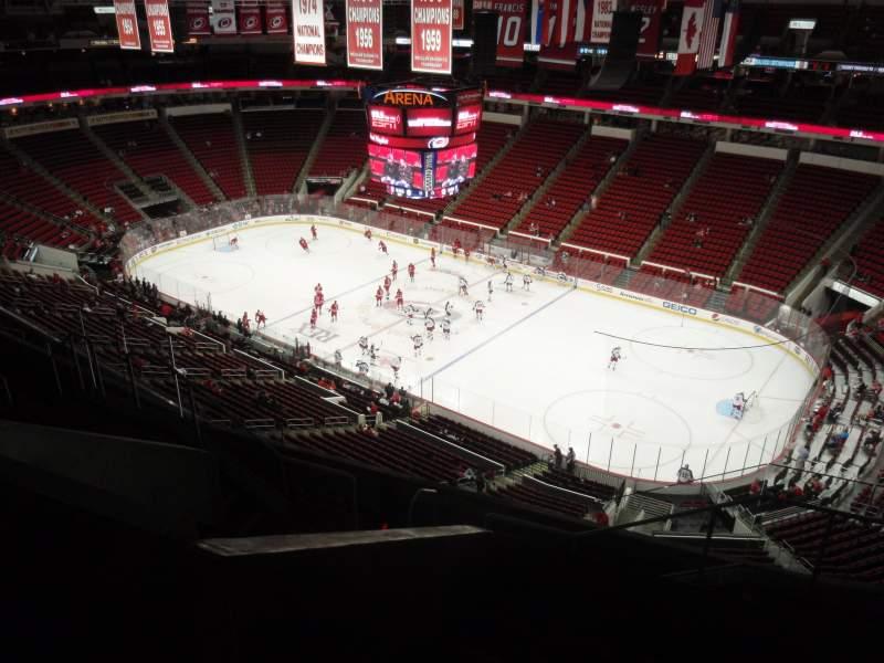 Vista sentada para PNC Arena Secção 301 Fila H Lugar 03