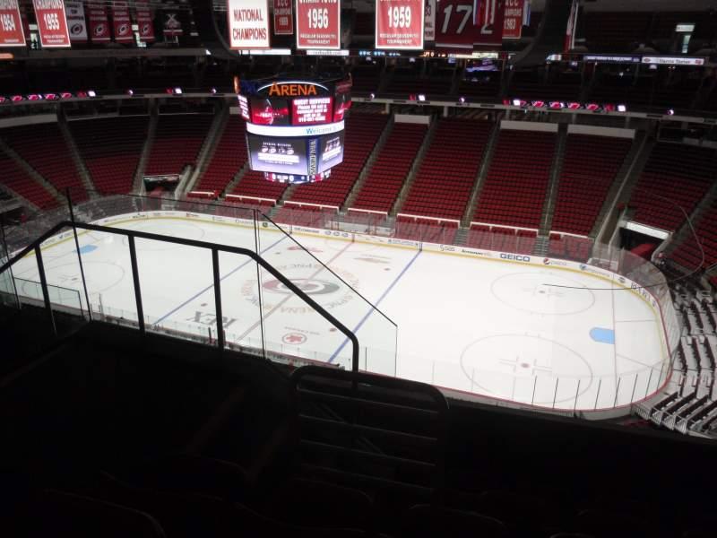 Vista sentada para PNC Arena Secção 302 Fila E Lugar 11