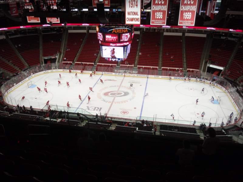Vista sentada para PNC Arena Secção 303 Fila K Lugar 19