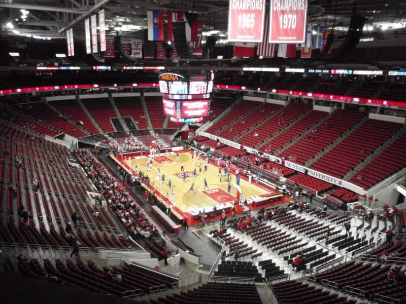 Vista sentada para PNC Arena Secção 336 Fila A Lugar 5