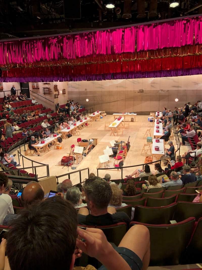 Vista sentada para Circle in the Square Theatre Secção Orchestra 100 (Even) Fila K Lugar 112