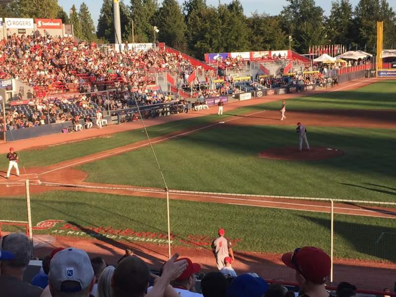 Vista sentada para Nat Bailey Stadium Secção 1 Fila 12 Lugar 12