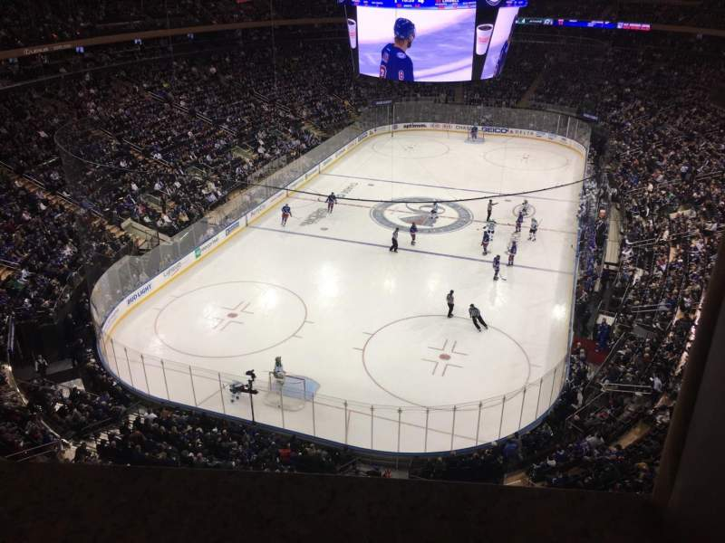 Vista sentada para Madison Square Garden Secção 306 Fila 1 Lugar 14