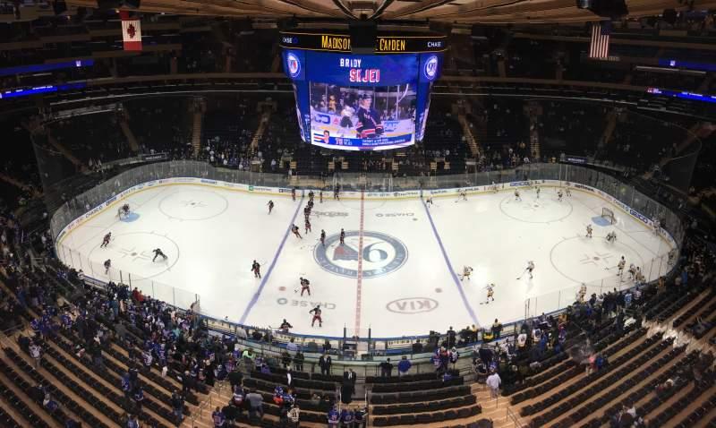 Vista sentada para Madison Square Garden Secção 313 Fila 1 Lugar 12