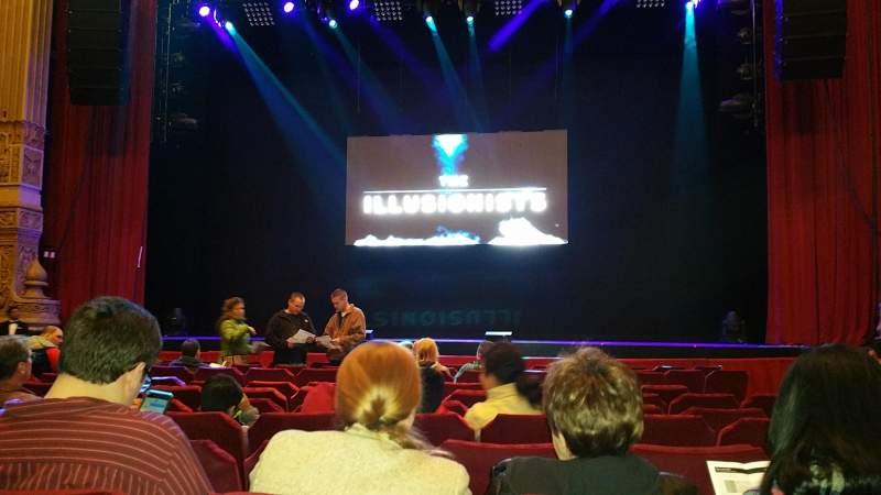 Vista sentada para Nederlander Theatre (Chicago) Secção Orchestra C Fila L Lugar 112