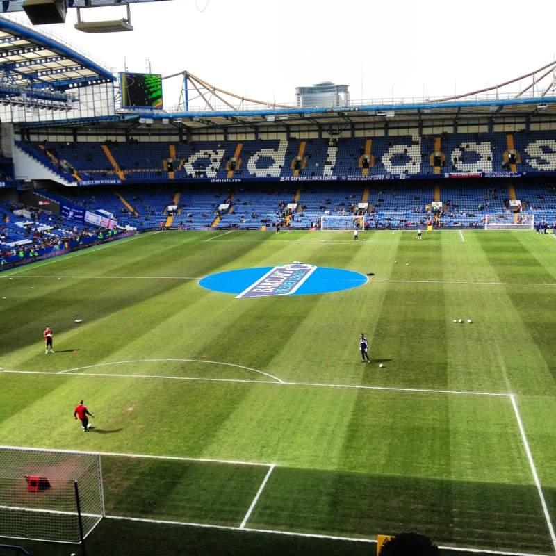 Vista sentada para Stamford Bridge Secção Shed End Upper 2 Fila 16 Lugar 111