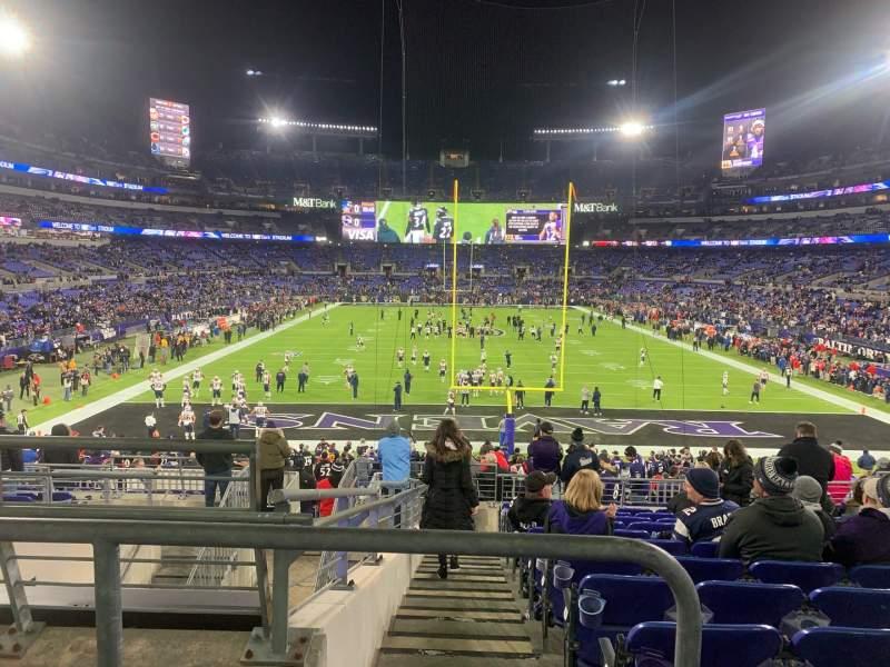 Vista sentada para M&T Bank Stadium Secção 113 Fila 30 Lugar 18