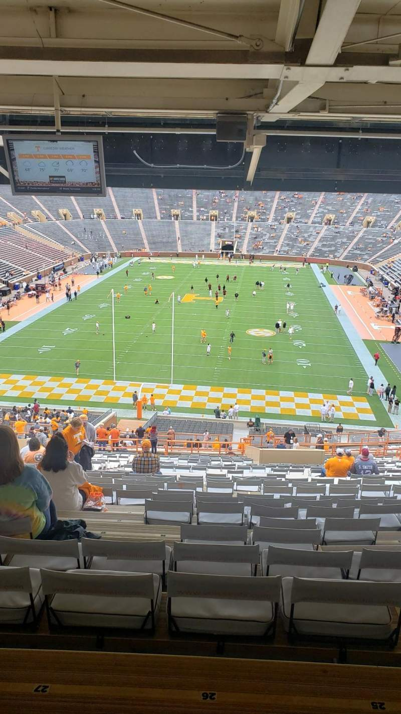 Vista sentada para Neyland Stadium Secção Y7 Fila 54 Lugar 26