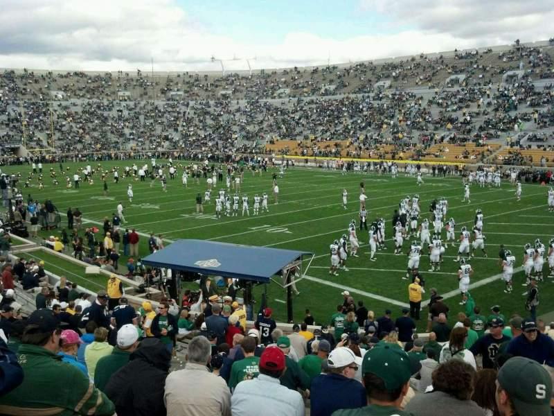 Vista sentada para Notre Dame Stadium Secção 22 Fila 31 Lugar 17