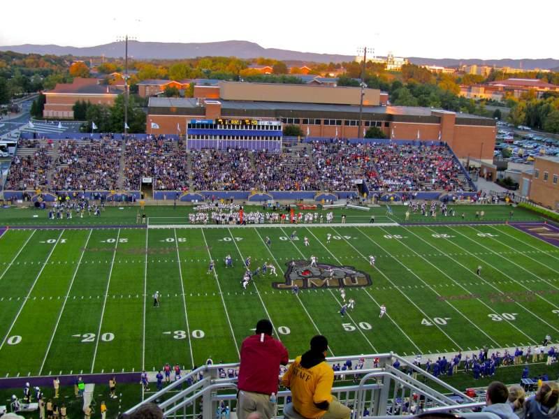 Vista sentada para Bridgeforth Stadium Secção 408 Fila I Lugar 3