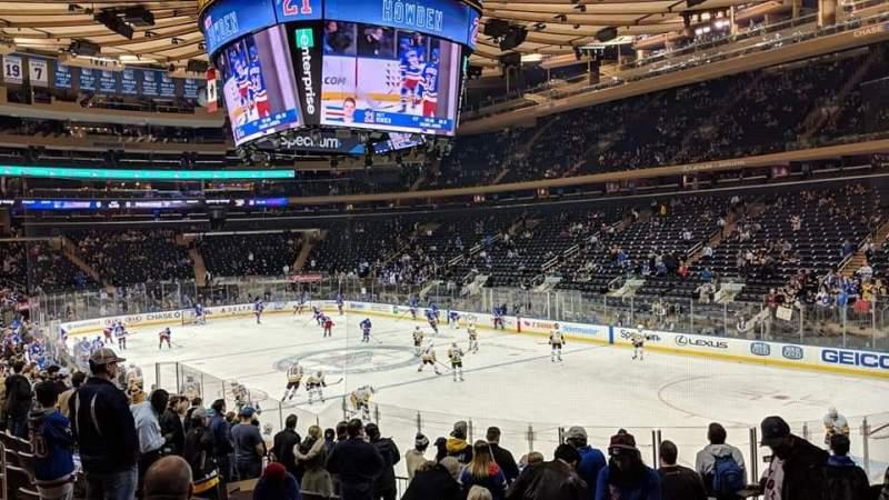 Vista sentada para Madison Square Garden Secção 110 Fila 15 Lugar 13