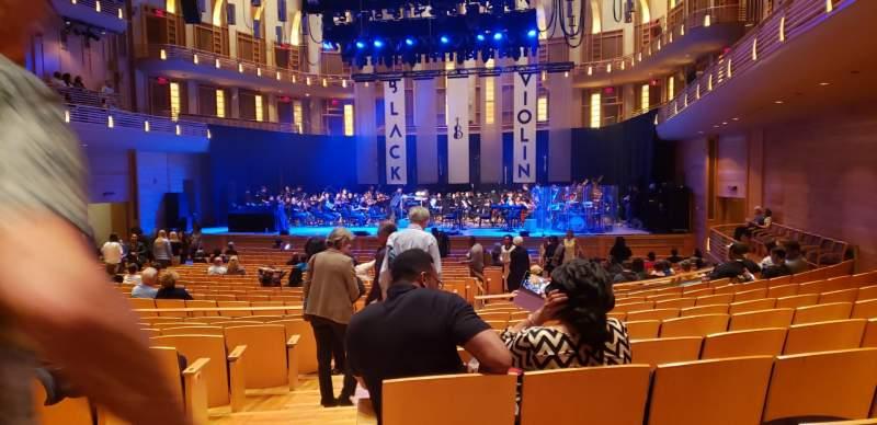 Vista sentada para The Music Center at Strathmore Secção Orchestra Tier Fila KK Lugar 2