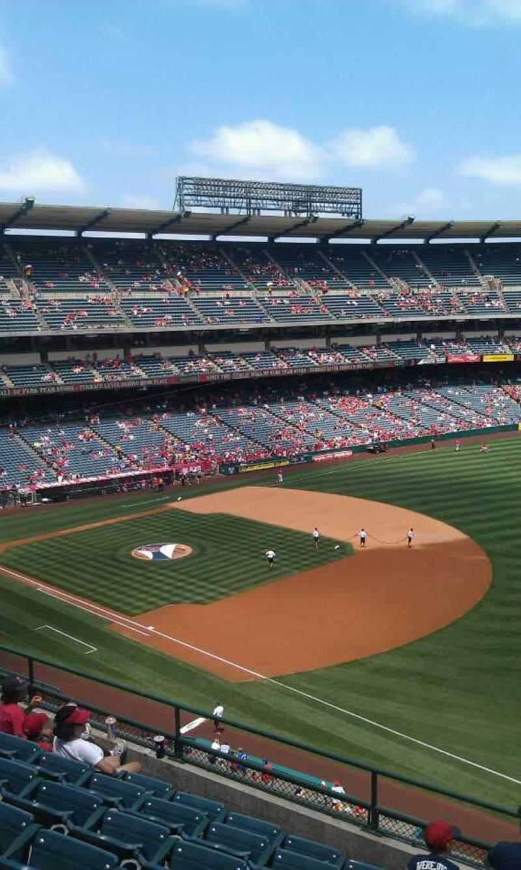 Vista sentada para Angel Stadium Secção 429 Fila g Lugar 1