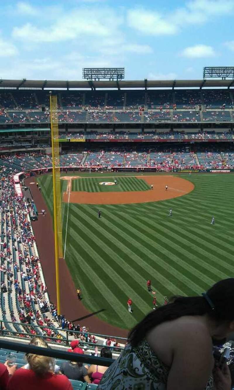 Vista sentada para Angel Stadium Secção 540 Fila a  Lugar 7