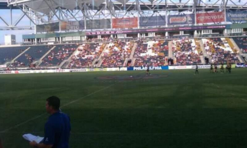 Vista sentada para Talen Energy Stadium Secção 107 Fila Field